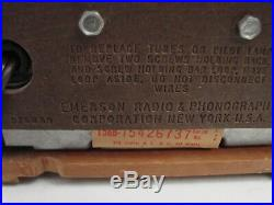 Emerson Radio Model 713 Series A Sunburst Small Tabletop Tube Vintage Working