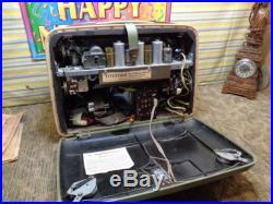 Estate Vtg Rare Portable Ac/dc Telefunken Bajazzo 8 Tube Personal Radio Works