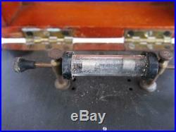 FINE VINTAGE CRYSTAL SET RADIO G. P. O. Reg MARCONI ERA 1920s wireless tube valve