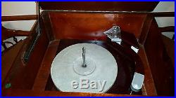 Fada 602 radio record player RARE vintage 78 rpm wooden c1940's 1947 tube
