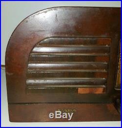 Fada Antique Wood Radio Art Deco Electric Vintage Rare Tube Technology USA