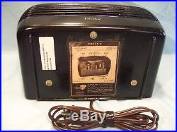 Fully Restored 1946 Philco Hippo Model 46-420 Antique Vintage Tube AM Radio