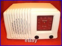 Fully Restored 1947 Firestone Model 4-A-3 Antique Vintage Tube Working AM Radio