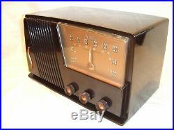 Fully Restored 1951 Silvertone Model 15 Antique Vintage Tube Working AM Radio