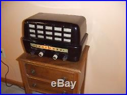 Fully Restored 1952 Vintage Airline Model BR-1542A Antique Tube Working AM Radio