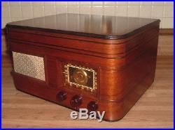 GORGEOUS VINTAGE 1940'S CROSLEY TUBE WOOD AM SW PHONOGRAPH RADIO RESTORED WORKS