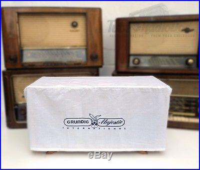 GRUNDIG MAJESTIC DUST COVER incl. Logo Tube Vintage Radio