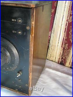 Garod Neutrodyne Raf Antique Tube Radio & Headset Vintage Electronics
