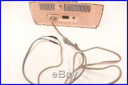 General Electric Radio C-416 Table Top Clock Pink Tube Vintage Retro 50s