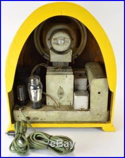 Gloritone 99a Cathedral Tube Radio Vintage Old Wood Cathedral Yellow