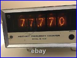 Heathkit IB-1100 Frequency Counter VTG Nixie Tube Display HAM Radio