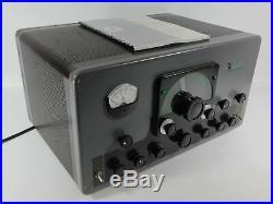 Johnson Viking Valiant Vintage Tube Ham Radio Transmitter (looks good, untested)