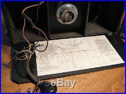 Kemper K-52 Portable Radio, 1927 Vintage, Great Condition