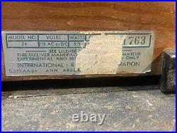 Kadette Clockette Tube Radio Vintage Clock VERY RARE GOOD CONDITION