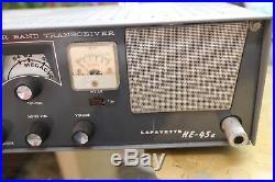 Lafayette He-45A Ham Radio 6 Meter Transceiver Tube Vintage