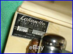 Lafayette vintage white plaskon tube radio T 99