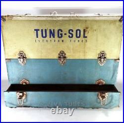 Large, Blue & Cream, Tung-Sol, Vintage Radio TV Vacuum Tube Valve Caddy Case