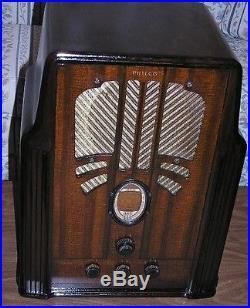 Lovely 1936 Vintage Philco 650 Tube 4 Band Tombstone Radio! Very Nice! Works