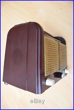 Marconi 1940's Bakelite Nice Old Rare Vintage Valve Tube radio T34DAX