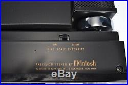 McIntosh MX 113 Vacuum Tube Stereo FM Radio Tuner Preamplifier Vintage