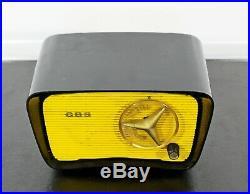 Mid Century Modern Vintage CBS 2160 Traveler Radio Black Yellow 1950s