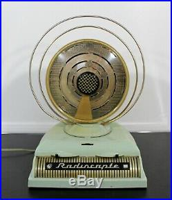 Mid Century Modern Vintage French Tube Radio Radiocapte Celard 1950s Mint Green