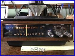 Mid Century Modern Vintage Zenith AM/FM Circle of Sound Radio 1970s