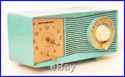 Motorola C15JK 32 Turquoise Blue Clock Tube Amp Radio Vintage Mid Century Modern