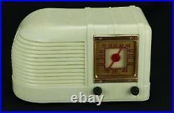 Old VTG Admiral Tube Radio Streamlined Art Deco 20A6 PreWar Plastic Plaskon Urea