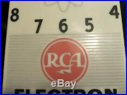 Original VTG ATOMIC ERA RCA ELECTRON TUBES Advertising Clock Television & Radio