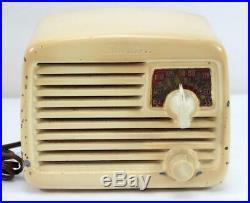 Original Vintage Silvertone Midget Tube Radio Model 6002 Works