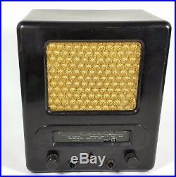 Original Vintage Tube Radio Aeg Ve 301 Dyn Telefunken Ww2 Wwii Army Military