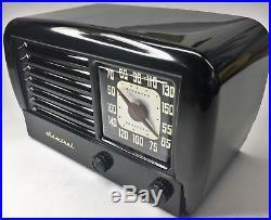 Outstanding Restored Antique Vintage 1947 ADMIRAL Black Bakelite Tube Radio