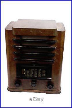 PHILIPS Hamburg D43 perm Röhrenradio VINTAGE Rundfunkempfänger Tube Radio 1935
