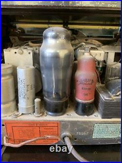 PHILLIPS Vintage Bakelite Valve Tube Radio Model No. 112E