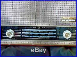 PYE 1107 Radio Vintage 1961 Valve Tube Radio Wooden Cased MW LW FM