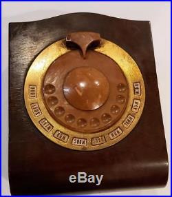 Philco Vintage 1930s Mystery Remote Control Tenite Bakelite AM Console Wooden