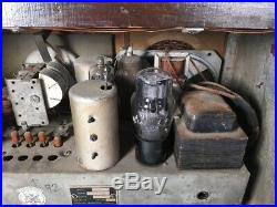 RARE 1939 VINTAGE CANADIAN MARCONI AM & SW TUBE RADIO MODEL 166! Superb