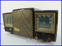 RARE TUBE RADIO General Electric 590 vintage ALARM CLOCK antique 1950's RETRO