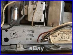 RARE Vintage 1947-8 Addison Tube Radio Marble Plaskon Catalin Battery Model 19