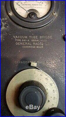 RARE! Vintage General Radio 561-A Vacuum Tube Bridge, Analyzer, Tester