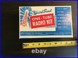 RARE-Vintage One-Tube Radio Kit Model 1805 Official 1957 Boy Scouts of America