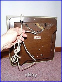 RCA CLOCK TV Radio Tubes w Light Vintage Repair Shop Antique Hanging Wall Sign