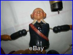 RCA Radiotron Wood Segmented Vtg 1920s Radio Tube Advertising Figure Cameo Doll