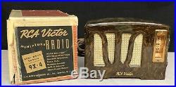 RCA Tulip Grill Catalin Bakelite 1939 vintage vacuum tube radio ORIGINAL BOX