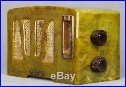RCA Tulip Grill Catalin Bakelite 1939 vintage vacuum tube radio- working