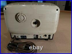 RCA Victor Phono Alarm Clock Tube Radio Model 5-C-591 Vintage 1950's