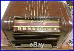 RESTORED Antique Vintage RCA VICTOR 56X BAKELITE Tube Radio Works GREAT