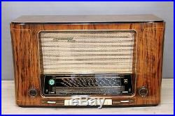 RESTORED! GRUNDIG 5010 EXCELLENT HIGH END VINTAGE TUBE RADIO 2x EL12 RARITY