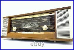 Radio PHILIPS B7X43A REVERBEO FM Stereo Vaccum Tube Vintage 1964 Working LikeNew
